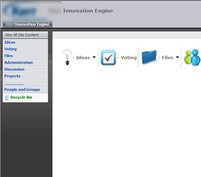 SharePoint application supporting strategic innovation